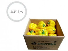 노랑색 파프리카 - 3kg ( 12~17개 내외 ) 특품